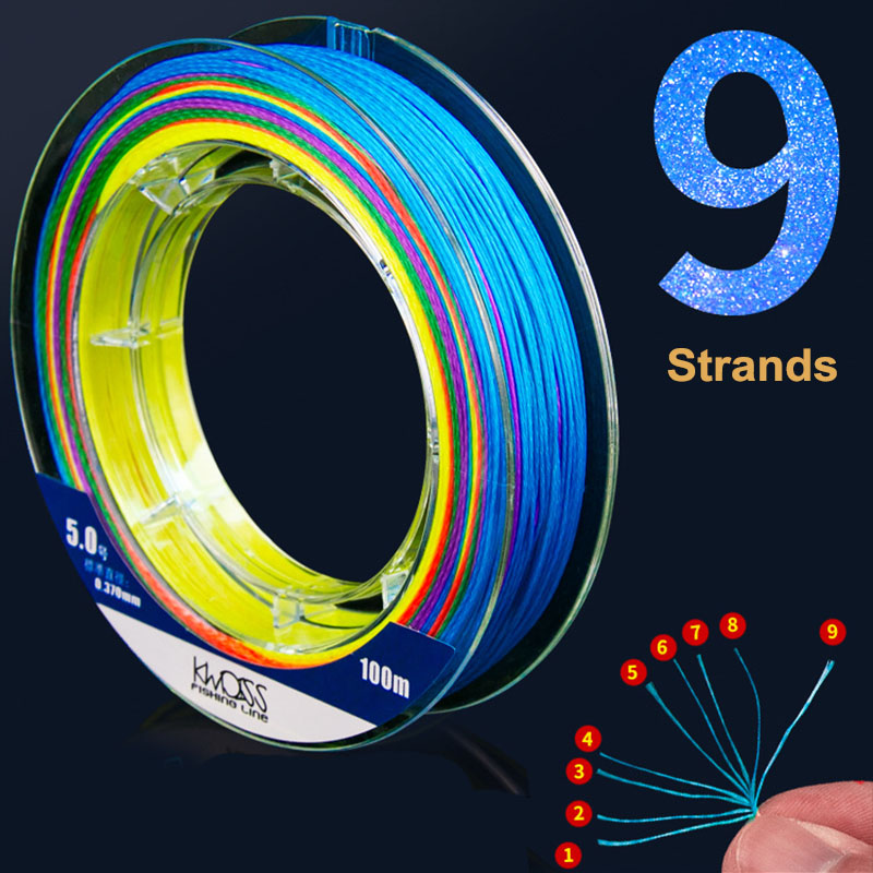 Image 3 - 100m PE Fishing Line 9 Strands Braided Fishing Line Multicolor Ultra high Strength Multifilament Fishing Gear Accessory JC-in Fishing Lines from Sports & Entertainment