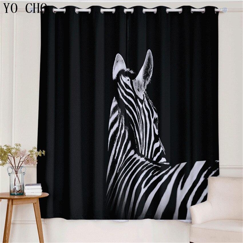YO CHO Nuovo Prodotto 3d tende blackout Zebra Animale rideaux cervo ragazzi tende per bambini che vivono room135 * 245 cm 2 PZ gordijnen - 3