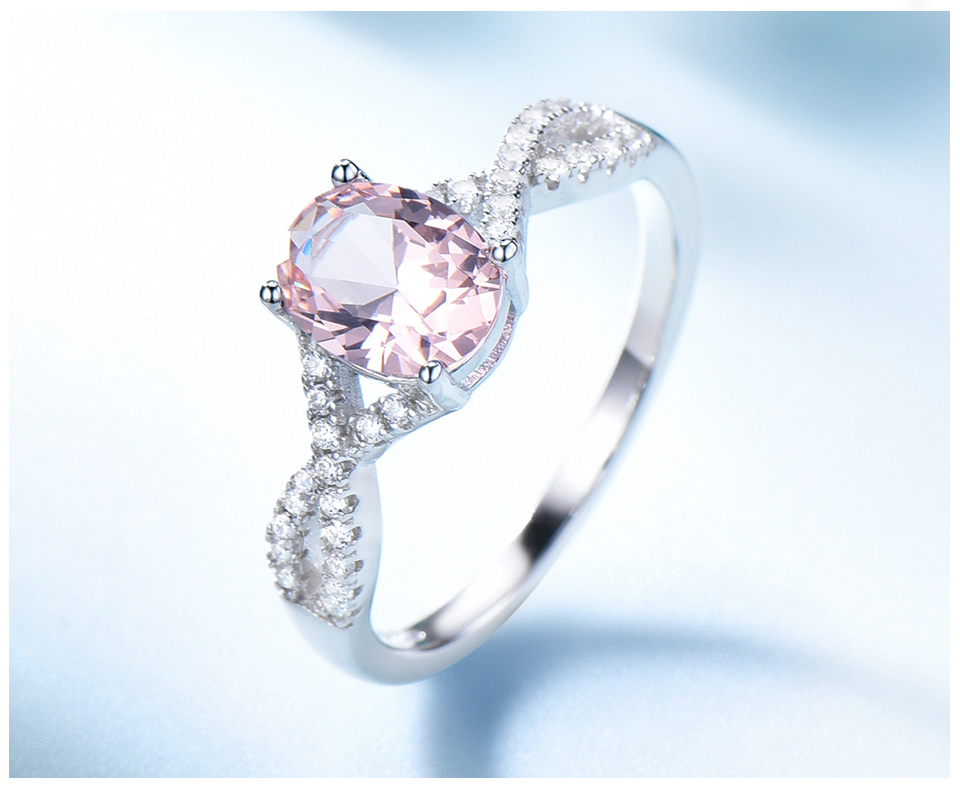 Honyy morganite  925 sterling silver rings for women RUJ099M-1-pc (5)