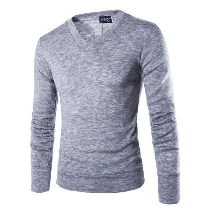 2018 New Autumn Fashion Brand Casual Sweater V Neck Striped Slim Fit Knitting Mens Sweaters And