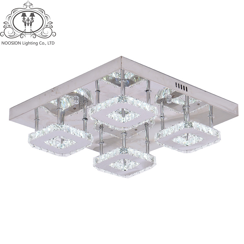 NOOSION Techo Modern LED Crystal Ceiling lamp for Bedroom Novelty Ceiling Lamp Fixture luminaria for Children Indoor Decoration noosion cartoon ceiling lights lovely children s bedroom plafon led lamp cut squirrel kindergarten lamps for kisd room techo