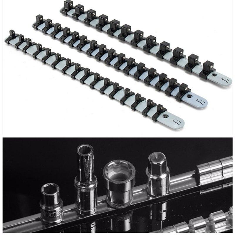 3pcs Plastic Tools Sockets Organizer Set 1/4