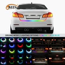 OKEEN 47.6inch led trunk strip RGB or Iceblue driving mode I20 car-styling Reverse dynamic led turn light Tailgate light strip