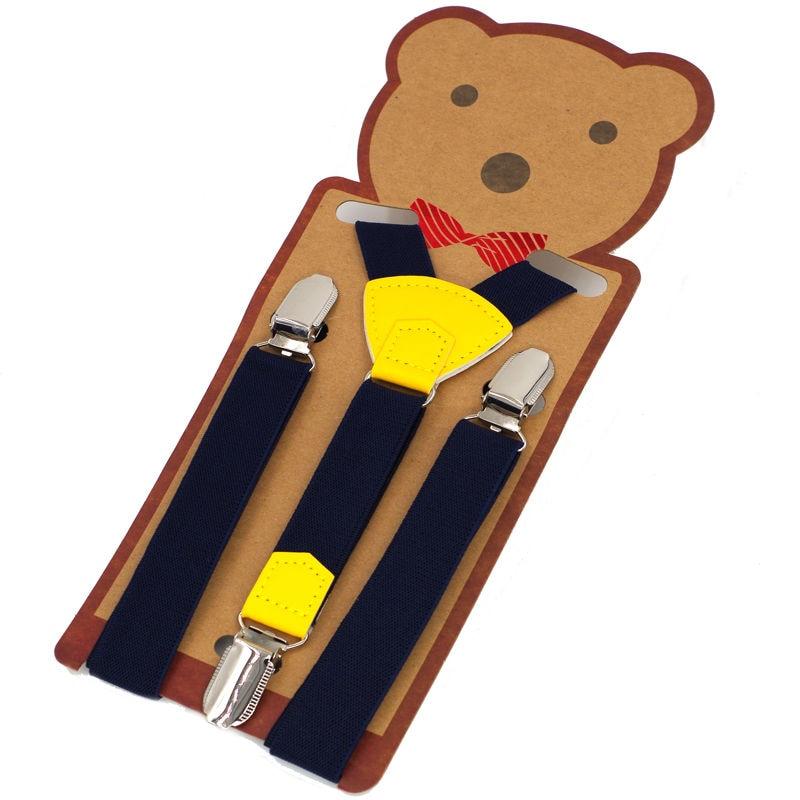Baby Suspenders Kids Braces 3clips Tirantes Elastic Bretelles Belts Student Suspensorio Width 2cm Length 65cm