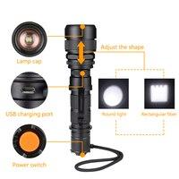 SANYI 2017 High Power Led Flashlight 3800lm CREE XML L2 Waterproof 18650 Camping Bicycle Flash Light