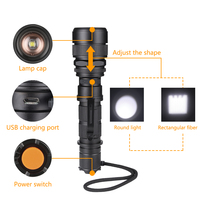 SANYI 2017 High Power Led Flashlight 3800lm CREE XML L2 Waterproof 18650 Camping Bicycle Flash Light