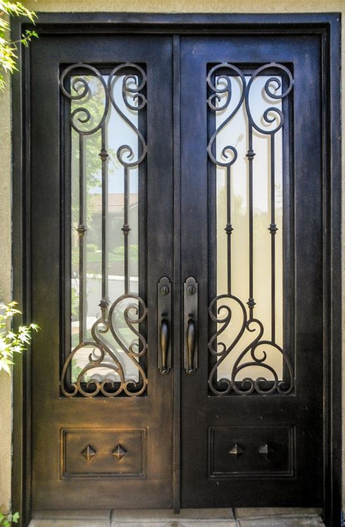 Hench 100% Steels Metal Iron Ornamental Front Doors Raw Iron Gates