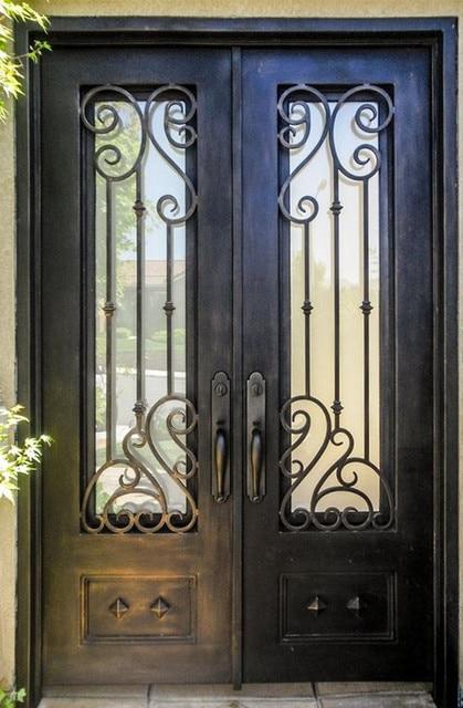 """Estremamente Personalizzato 72 """"x96"""" porte porte anteriori in ferro battuto  GN26"""
