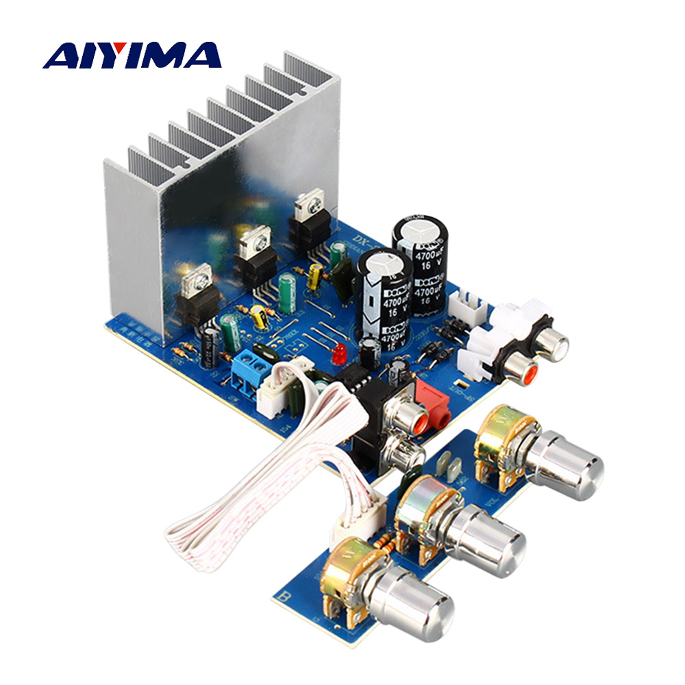 AIYIMA 2.1 TDA2030 Subwoofer Amplifier Board 15W*2+30W Sub Audio Stereo Amplifier For DIY Speaker Amp Accessories Dual AC12V-15V