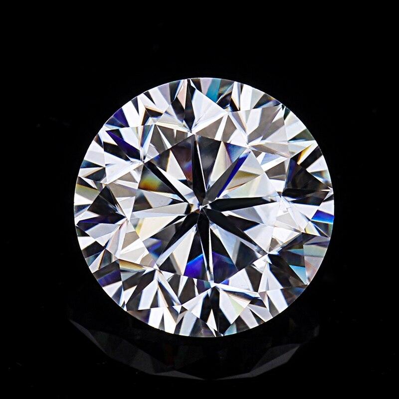 جولة بريليانت قص 1.0ct قيراط 6.5 مللي متر EF اللون Moissanites فضفاض حجر VVS1 ممتازة قطع الصف اختبار إيجابي مختبر الماس-في ماس وأحجار كريمة لينة من الإكسسوارات والجواهر على  مجموعة 1