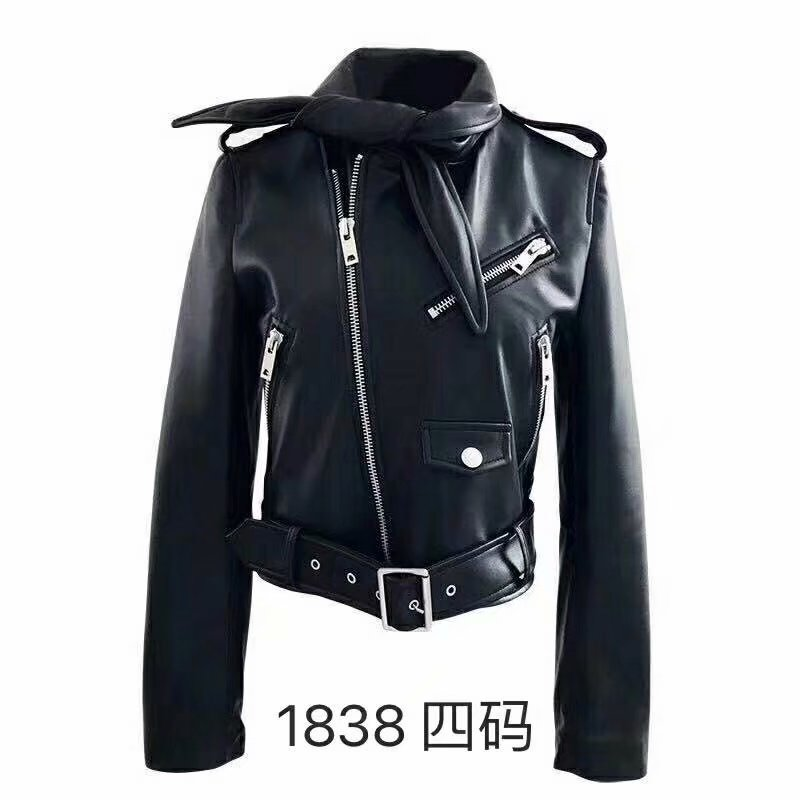 2019 Hot Sale Female Winter Jackets And Coats motorcycle Brand women   Leather   Jackets,Faux   Leather   Biker Jacket High quality