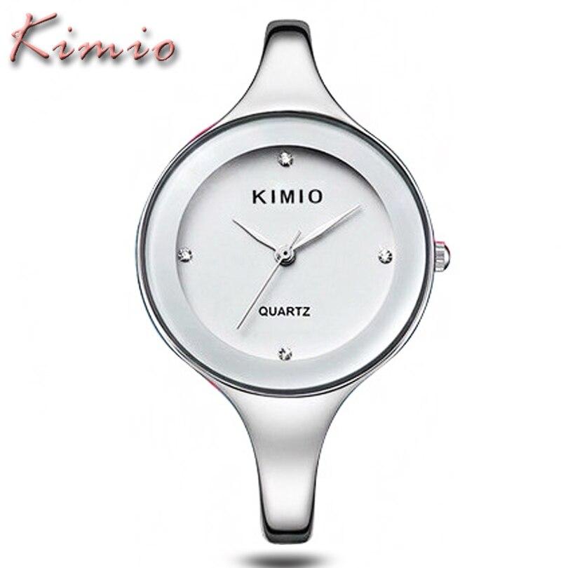 Prix pour KIMIO Dames Montres Top Marque De Luxe Bracelet En Acier Inoxydable D'affaires Horloge Cadeau Reloj Mode Casual Femmes Montre À Quartz