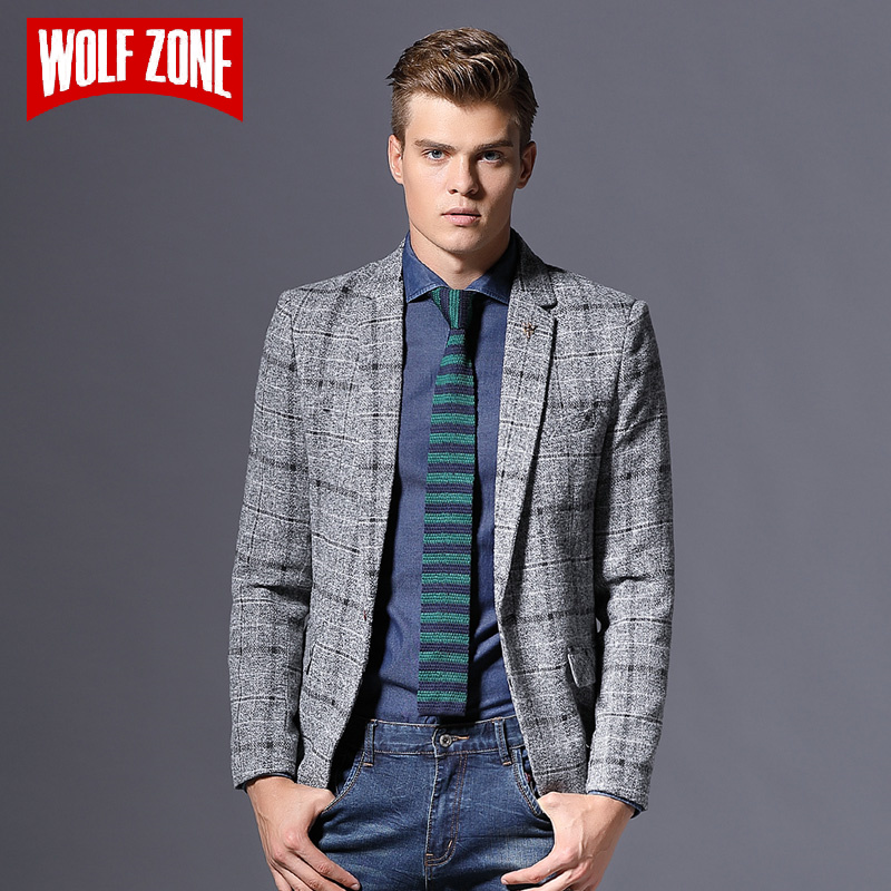 Top Fashion Casual Slim Fit Blazer Brand Clothing Men Masculino Autumn Mens Jacket Winter Suit Single Button Wedding Dress