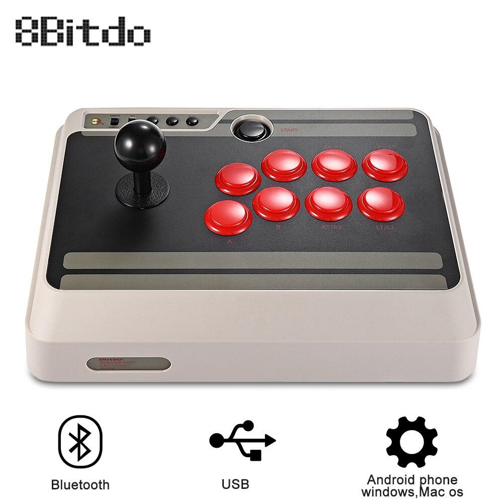 8 Bitdo NES30 Personalizzabile Arcade Stick Usb Gamepad PS4 Controller Bluetooth con Turbo per Nintendo Interruttore PC Mac Android