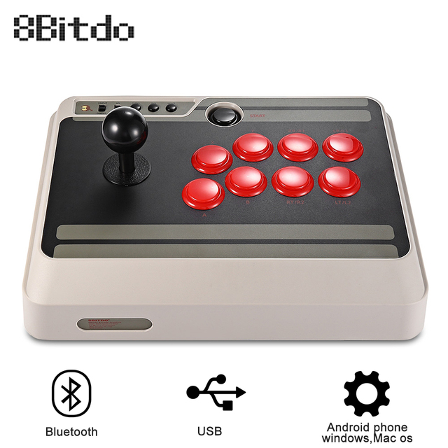 US $62 99 |8Bitdo NES30 Customizable Bluetooth Arcade Stick Gamepad Usb PS4  Controller with Turbo for Nintendo Switch PC Mac Android -in Gamepads from