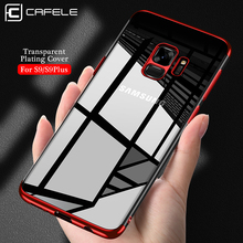 CAFELE Phone Case for Samsung Galaxy S9 plus Shell Luxury Transparent Soft TPU Plating Phone Back Silicone Case for Samsung S9