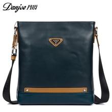DANJUE Natural Leather Men's Business Shoulder Bag Genuine Leather Bag Male Mini Designer Messenger Bags Cowhide Crossbody Bags
