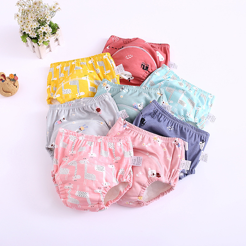 Baby  Infant  Waterproof Training Pants Cotton Changing Nappy Cloth Diaper Nappy Toddler Panties Underwear Reusable Washable