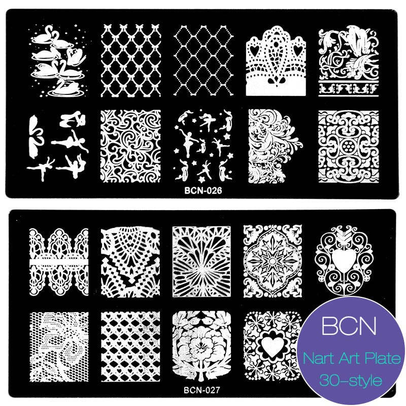 New 6*12cm Nail Stamping Plates 30 Style DIY Image Konad Nail Art Manicure Templates Stencils Salon Beauty Polish Tools Gift Hot