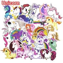 30 st färgglada söta unicorn klistermärken för bärbar bil styling telefon bagage cykel motorcykel blandad tecknad pvc vattentät klistermärke