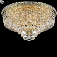 Ceiling Plate Lighting Gold Ceiling Lamp Crystal Ceiling Chandeliers K9032 46cm W X 28cm H