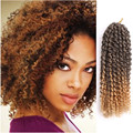 New Arrival 12inch Afro kinky curly braiding hair MaliBobo synthetic Loop Crochet braid hair Ombre Brown Crochet hair extensions