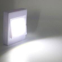 Беспроводной мини светильник с монолитным блоком светодиодов, настенный переключатель, ночное освещение для коридора, кухни, кабинета, экстренсветильник светильник, ночник, 8 светодиодов