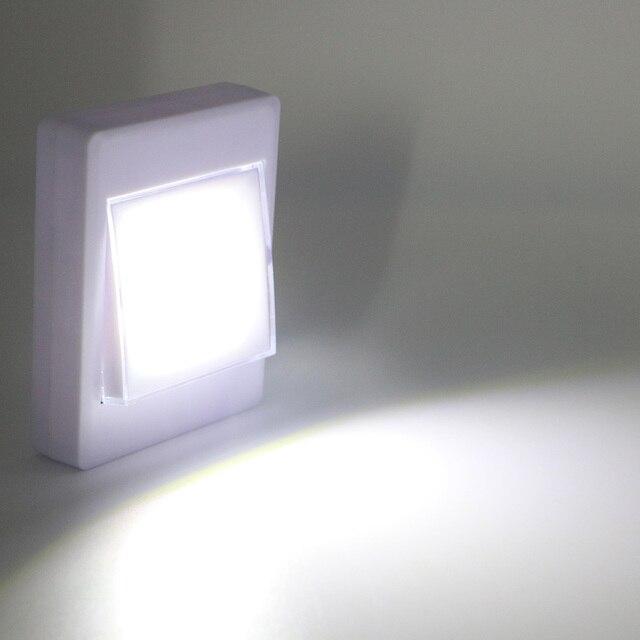 8 LEDs Mini COB akku lampe Schalter LED Wandleuchten Nacht Licht Auf ...
