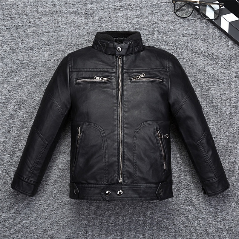 Cool Design Boys Girls Leather Coat for Autumn Spring Quality Breathable Leather Kids Jacket Bicycle Bomber Childrens ClothingCool Design Boys Girls Leather Coat for Autumn Spring Quality Breathable Leather Kids Jacket Bicycle Bomber Childrens Clothing
