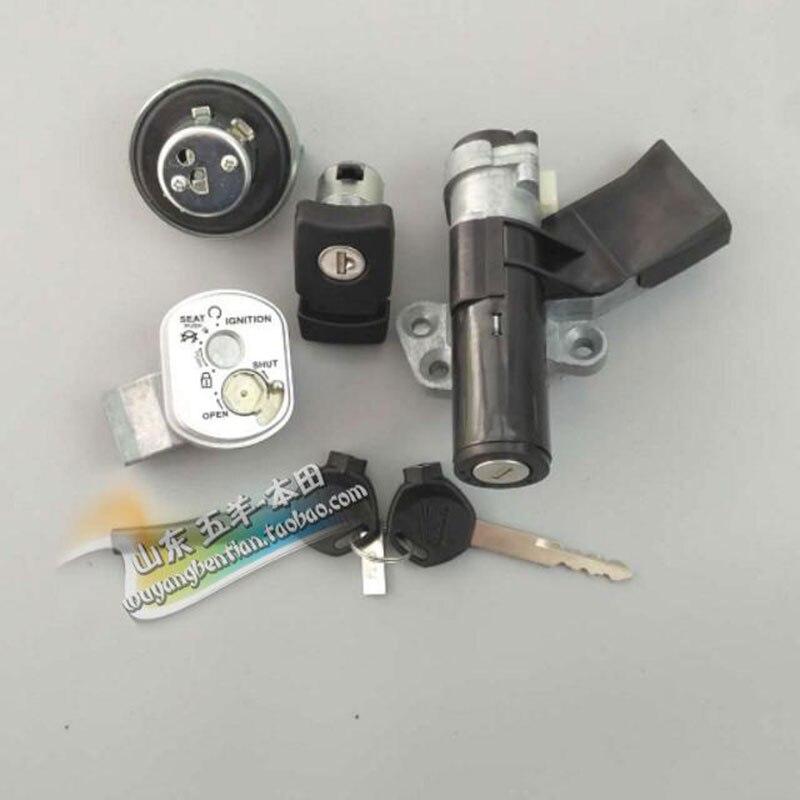Jeu de verrouillage de carburant pour HONDA LEAD 110 | Interrupteur dallumage pour moto authentique NHX110 2008-2015 pièces originales
