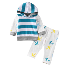 Autumn Spring Newborn Baby Boy Girl Outfit Clothes Pullover Shirt Hoodie Tops+Pants 2PCS Set
