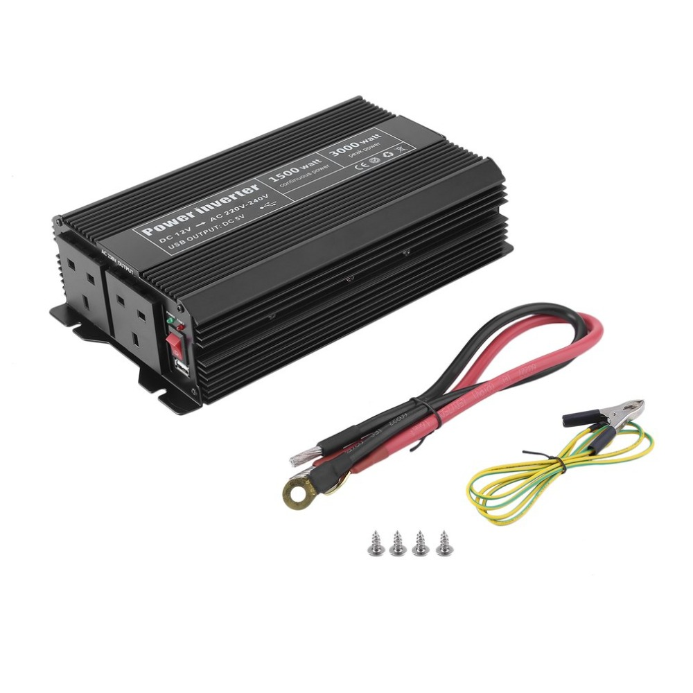 1500W Modified Sine Wave Power Inverter DC 12V To AC 220V-240V Car Power Voltage Converter Home Power Supply Transformer цена и фото