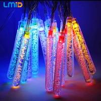 16ft/4.8M 20leds Ice Piton Shape LED Fairy Lights Christmas Xmas Party Decorations Waterproof Outdoor Solar Powered LED Lamp