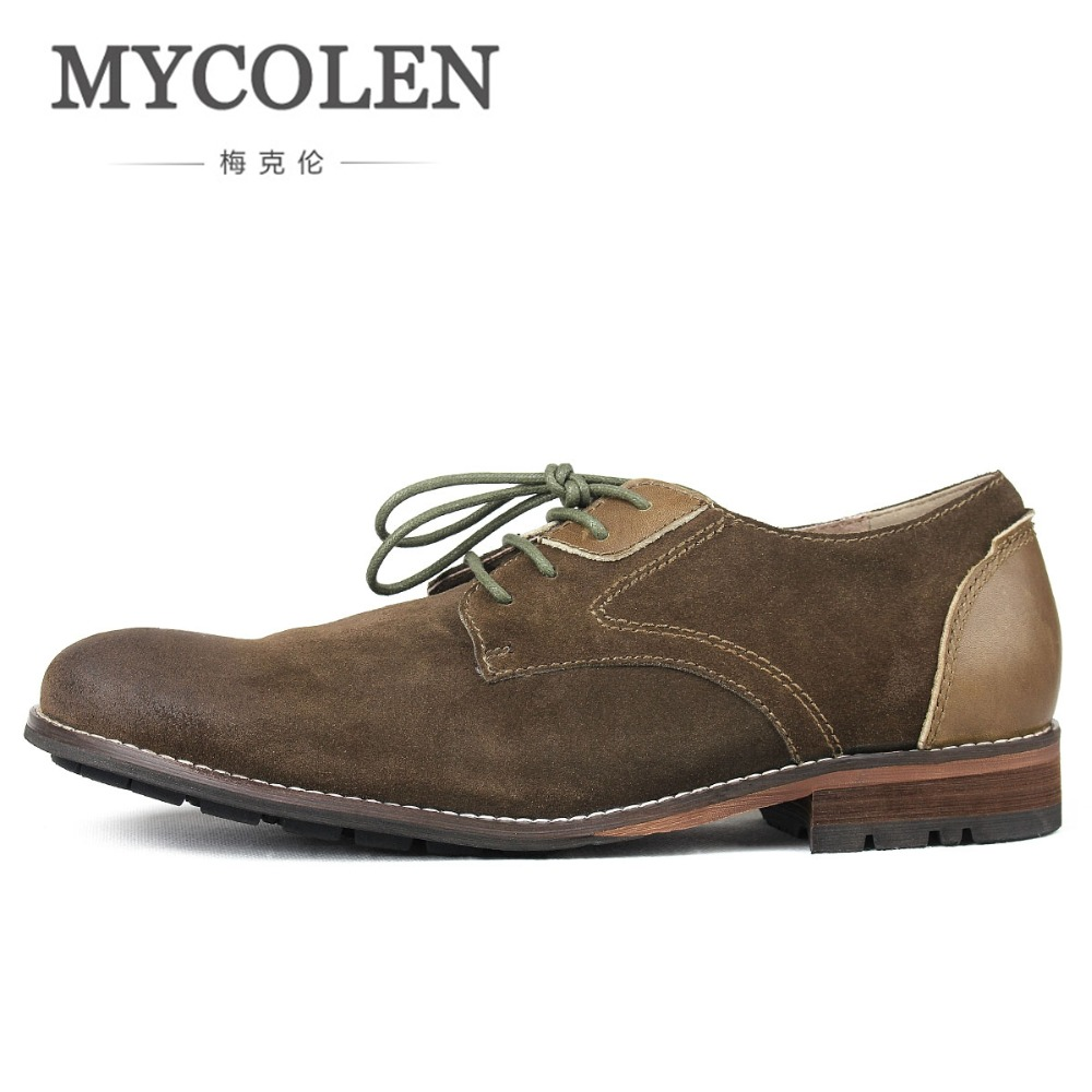 MYCOLEN Mens Dress Shoes Kjaki Luxury Brand Top Fashion Leather Handmade Man Formal Business Shoe Sapato Masculino Social european style real ostrich grain leather qshoes shoes mens brand design business dress luxury men fashion top shoe ym723 63