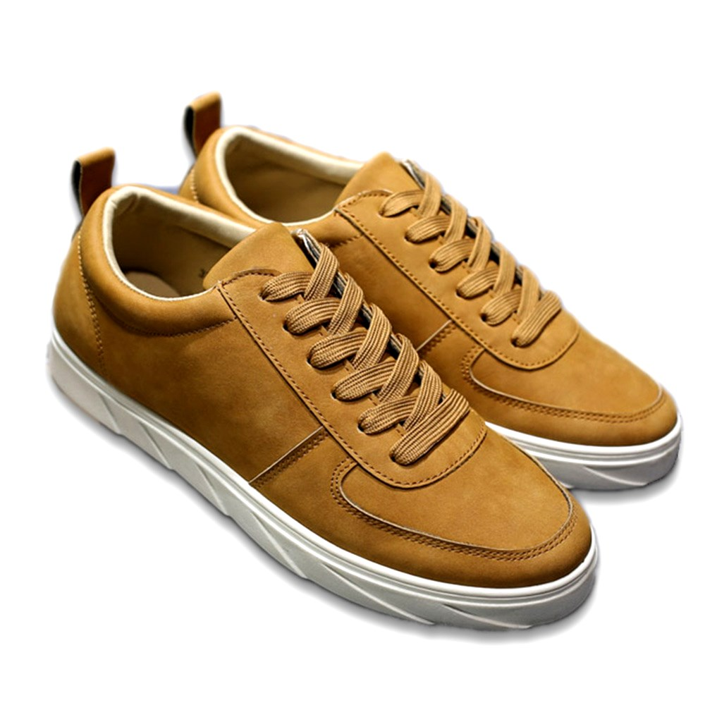 Cuir Appartements Low En Chaussures Respirant 2018 Gray Suédé Solide yellow Hommes Cut black Hombre Marque Casual Mode Zapatillas Automne g11dAw