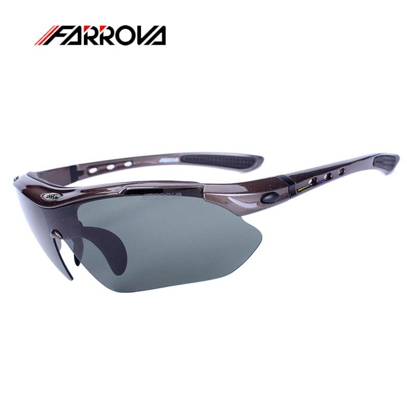 ФОТО Farrova Cycling Glasses Polarized Bike Goggles Outdoor Sportswear Bicycle Sunglasses UV 400 With 5 Lenses Women Men Moto Glasses