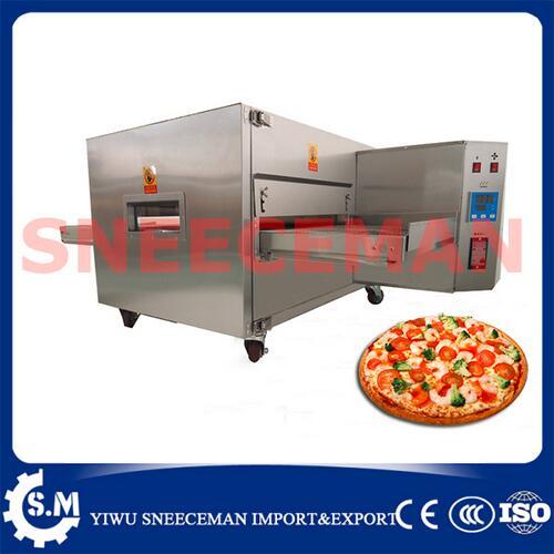 8H estufa de Circulação de ar Quente Forno de pizza assada comercial Pista de Pizza Elétrica Fogão A Gás Cozinhar Torradeira Forno De Pizza Transportadora fazer
