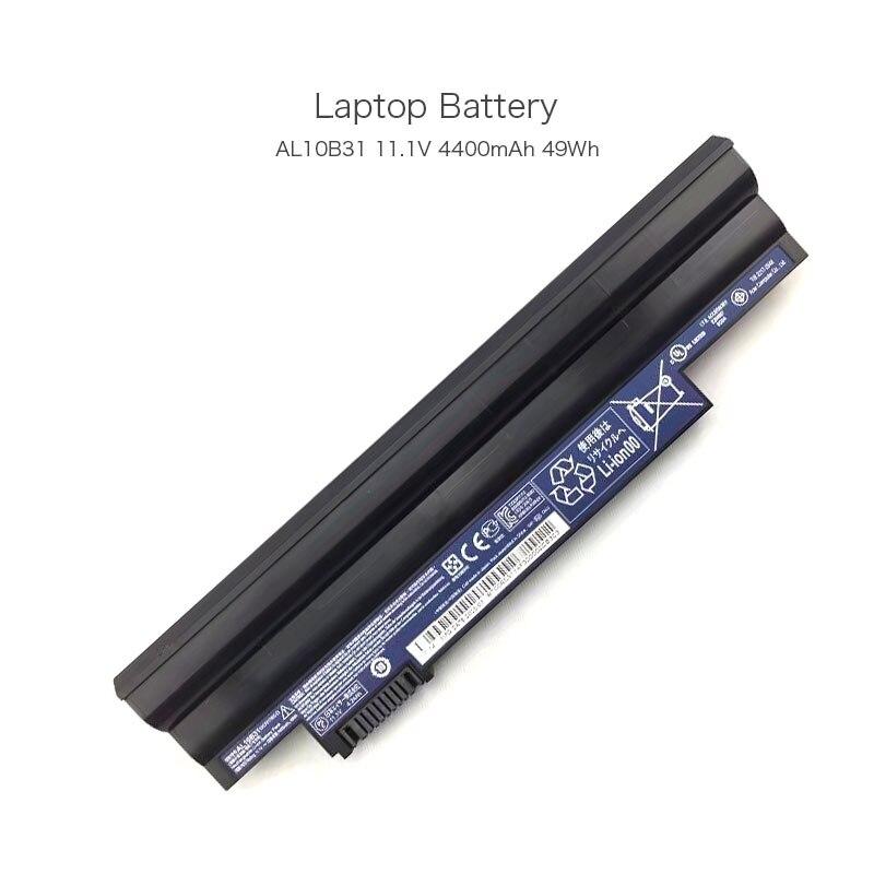11.1 v 4400 mah 49wh al10b31 al10bw al10a31 batterie d'ordinateur portable pour acer aspire one 522 d257 d260 d255 3icr17/65-2 portable