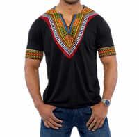 2018 mode Mens Afrikanische Kleidung Tops T Hemd Homme Afrika Dashiki Kleid Kleidung Marke Casual Kurzarm T Shirt für männer