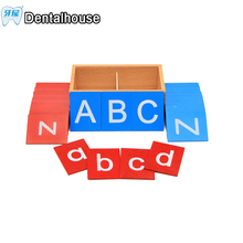 Baby Toys Montessori Lower And Capital Case Sandpaper Letters cards Boxes Wooden Toys Child Educational Early Development Gift
