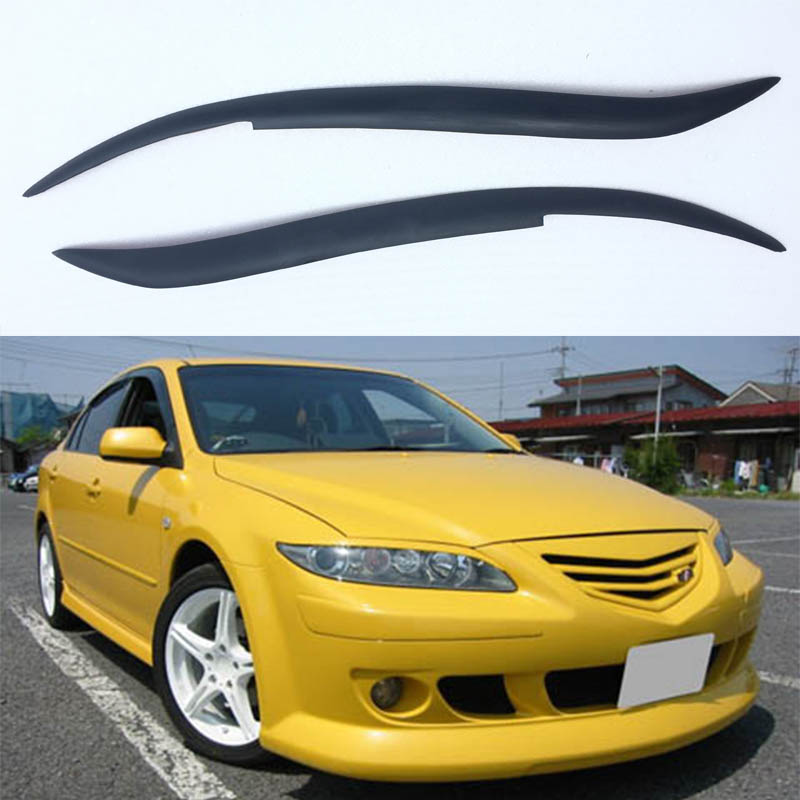 For Mazda 6 FRP Primer Car Headlight Eyelid Eyebrows Cover Trim Sticker 2002-2011 смеситель д раковины ledeme l1254 с гигиенич душем хром