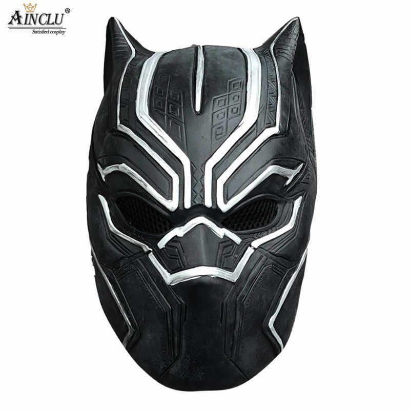 47950a2a245 ... Black Panther Wakanda King Cosplay Costume Jumpsuit Fancy Lycra Spandex  Zentai Mask Customizated Suit Halloween Adults ...