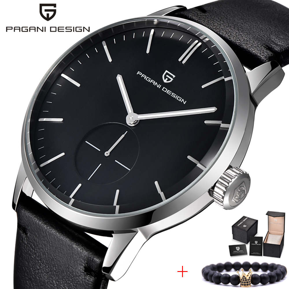 PAGANI DESIGN 2018 Top Brand Luxury Design Military Men s Chronograph Leather Fashion Sport Quartz Watches