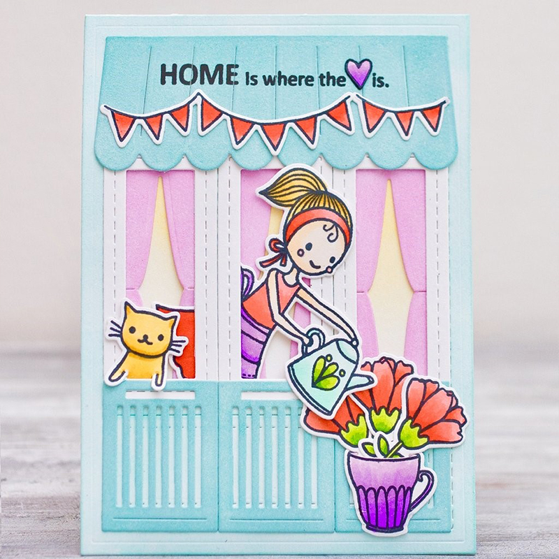 Perfect Home House Set Metal Cutting Dies Stencil for DIY Scrapbooking Embossing Paper C ...