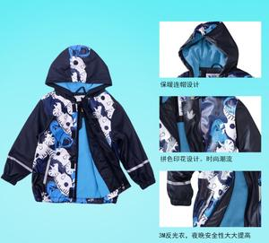 Image 4 - Ветрозащитная водонепроницаемая куртка для мальчиков, детские толстовки, верхняя одежда для мальчиков, одежда для девочек, детский зимний флисовый плащ От 2 до 6 лет
