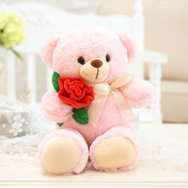94762f798c0 Roses bear Super soft Teddy bear doll plush toy Cute romantic bear plush  doll Valentine s Day gift for girl-in Stuffed   Plush Animals from Toys    Hobbies ...