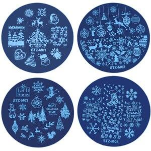 Image 5 - Рождественские пластины для стемпинга ногтей, снежинка, олень, зимняя пластина для изображения, сделай сам, дизайн ногтей, трафареты для маникюра, инструменты для маникюра, 1 шт.