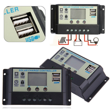 20A 12 24V Solar Charger Controller Panel Battery Regulator Charge Controller LCD Auto Regulator Timer Mayitr