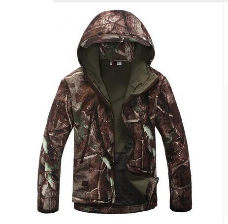 Feuilles V4 Militaire Tactique de Vestes Hommes Coupe-Vent Imperméable Chaud Vestes de Camouflage À Capuche Camouflage Vêtements De L'armée