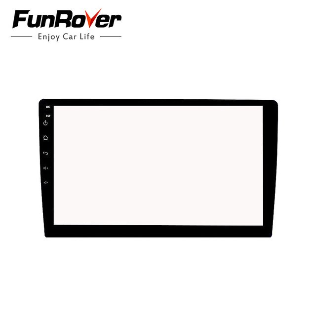 Funrover 10.1 inch Tempered Glass Screen Protector Film for 2 DIN Car radio tape recorder stereo gps navigation full touchscreen